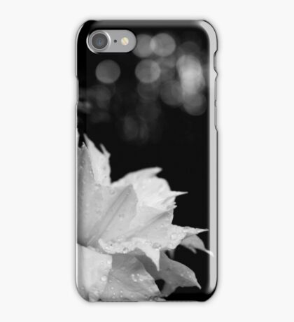 Artic Queen - Clematis 05 - Black and White Photography iPhone Case/Skin