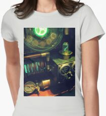 Steampunk Time Machine 1.0 Womens Fitted T-Shirt