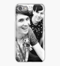 Dan and Phil (b&w) iPhone Case/Skin