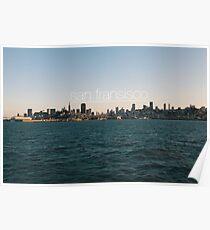 San Fransisco sunset skyline Poster