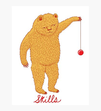 Skills Bear with Yoyo Photographic Print