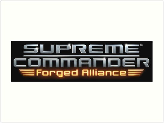 Supreme Commander Forged Alliance Logo Art Prints By Velocitylp