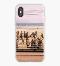 Along the beach, Atlantic City, NJ 1905 Colorized iPhone Case