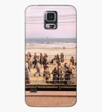 Along the beach, Atlantic City, NJ 1905 Colorized Case/Skin for Samsung Galaxy