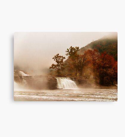 When the Morning Dawns on Kanawha Falls Canvas Print