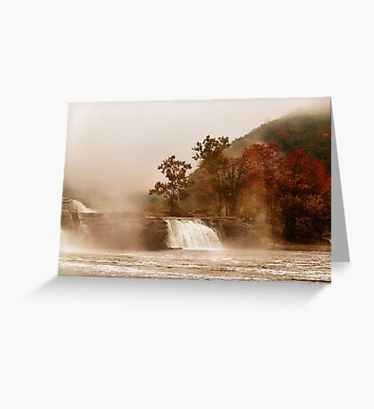 When the Morning Dawns on Kanawha Falls Greeting Card
