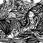 Zen Doodle 1A Black Ink by EdgeWares