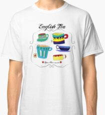 English Tea Cups Classic T-Shirt
