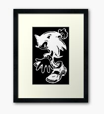 Sonic the Hedgehog [White] Framed Print