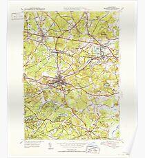 Massachusetts  USGS Historical Topo Map MA Maynard 351888 1950 31680 Poster