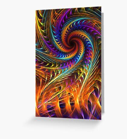 """""""Pinwheel Dreams"""" -  Abstract Spiral Fractal Art Greeting Card"""