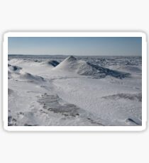 frozen tundra with giant snow sculptures  Sticker