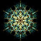 Lucid Interconnection -  Sacred Geometry Energy Mandala. by Leah McNeir