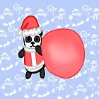 Kawaii santa panda by mikistarlight