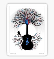 Rhythms of the Heart ~ Surreal Guitar Sticker