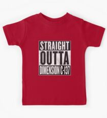 Rick and Morty - Straight Outta Dimension C-137 Kids Tee