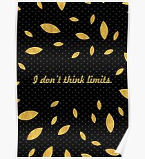 """I don't think limit... """"Usain Bolt"""" Inspirational Quote (Creative) Poster"""