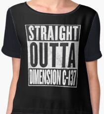 Rick and Morty - Straight Outta Dimension C-137 Chiffon Top