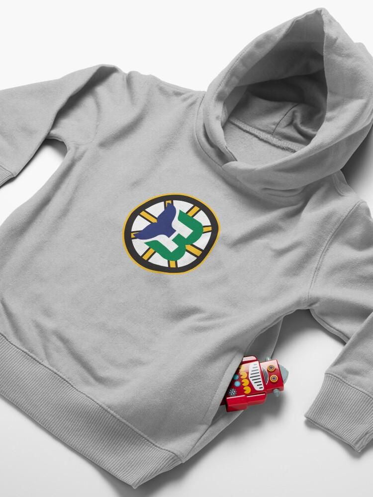 Alternate view of Boston Whalers Logo Mashup Toddler Pullover Hoodie