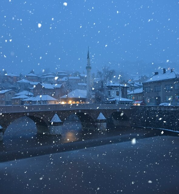 Snowfall at Dawn - Sarajevo, Bosnia and Herzegovina by Kasia Nowak