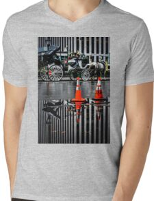 Horse and Carriage Mens V-Neck T-Shirt
