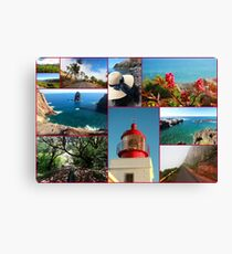 Collage from Portugal (Madeira) 2 - Travel Photography Canvas Print