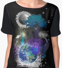 Cosmic geometric peace Chiffon Top