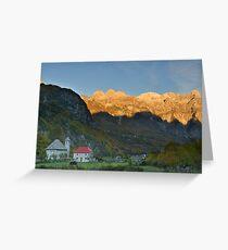 Mountain Sunrise - Theth, Albania Grußkarte