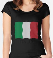Italia flag Women's Fitted Scoop T-Shirt