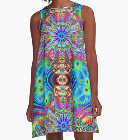 Cosmic Creatrip - Psychedelic trippy visuals A-Line Dress