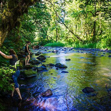 Clear Creek Metzler State Park Oregon by babatim