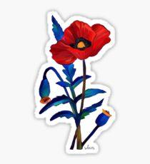 Flower Poppy 11417 Sticker