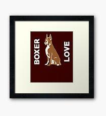 Boxer Love Cute Dog  Framed Print