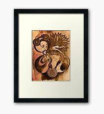 Dancer in the Dark - Sepia Framed Print