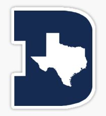 D Texas (Blue/White) Sticker
