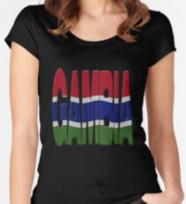 Gambian flag Women's Fitted Scoop T-Shirt