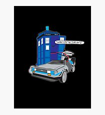 Time Travel Jump Start Photographic Print