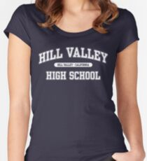 Hill Valley High School (White) Women's Fitted Scoop T-Shirt
