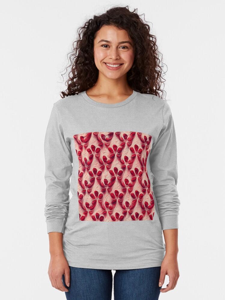 Alternate view of Pomegranate seeds #DeepDream Long Sleeve T-Shirt