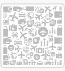 Aircraft a background Sticker