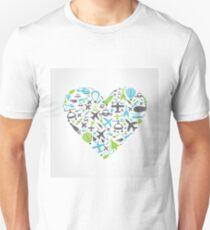 Aircraft heart T-Shirt