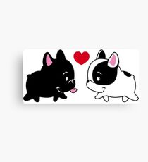 Frenchies in Love Canvas Print