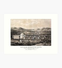View of the University of Virginia - 1856 Art Print