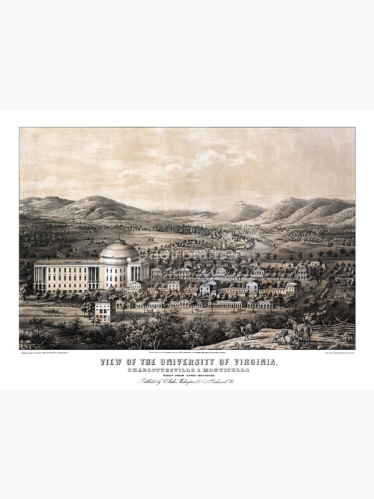 View of the University of Virginia - 1856 by paulrommer