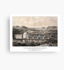 View of the University of Virginia - 1856 Canvas Print