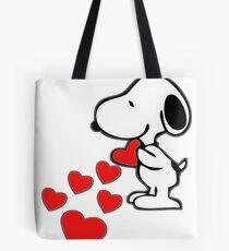 Snoopy amor Tote Bag