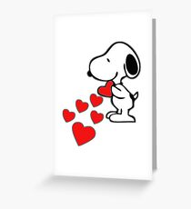 Snoopy amor Greeting Card