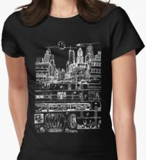 City Limits (White) Women's Fitted T-Shirt