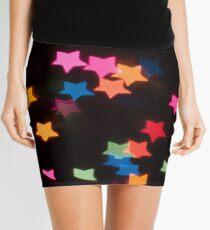 Abstract Bokeh shapes stars Mini Skirt