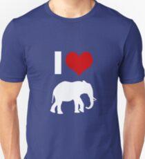 Elephants Silhouette Zoo Zoologist  Unisex T-Shirt
